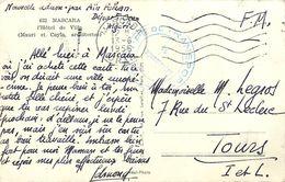 PIE-17-P.T. 4220 : CARTE POSTALE CACHET FRANCHISE MILITAIRE  GROUPE DE TRANSPORT  LE VAGUEMESTRE  MASCARA ALGERIE 1956 - Marcophilie (Lettres)