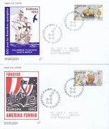 Faroe Islands; 1992 Europa - CEPT;  Set On 2 FDC - Europa-CEPT