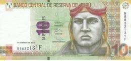 BILLETE DE PERU DE 10 NUEVOS SOLES DEL AÑO 2013 CALIDAD EBC (XF) (BANKNOTE) AVION-PLANE-AVIONETA - Perú