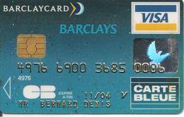 -CARTE@--PUCE-MAGNETIQUE-BARCLAYS-VISA-11/04--SCHLUMBERGER FR 08/02-TBE-RARE - Cartes Bancaires Jetables