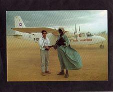 CPM - AVIATION SANS FRONTIERES - Mission Soudan - Carte Double - - Avions