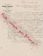 Facture 1878 / Arsène CONVERCY / Epicerie Mercerie Faïence Orfèvrerie Ruoltz / 25 L' Isle Sur Le Doubs - France