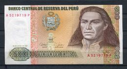 PEROU 500 INTIS JUIN 1987  PICK 134b  BILLET NEUF UNC - Pérou