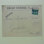 Enveloppe Publicitaire : Escat Frères ,Toulouse  En 1907 - Publicités