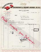 Facture  BEAUDET & RENE Jean / Papeterie B.J. / 19 Brive La Gaillarde / Corrèze - France