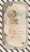 7AJ163  IMAGE PIEUSE RELIGIEUSE BOUASSE JEUNE COMMUNION DE BOTMILIAU ST BRIEUC 1906 2 SCANS - Images Religieuses