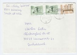 2001 HUNGARY COVER Stamps ANTIQUE FURNITURE To Switzerland - Hungary