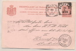 Nederlands Indië - 1894 - 7,5 Cent Briefkaart Van VK MAGELANG Naar Hennef / Deutschland - Indes Néerlandaises