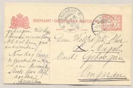 Nederlands Indië - 1919 - 5 Cent Briefkaart Van Semarang Naar KBu OENGARAN - Nederlands-Indië