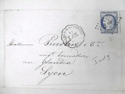 Lettre Avec Cérès N° 60 Picage Décalé TAD Convoyeur Station Nillers-Bretonneu (76) Indice 9 - Marcophilie (Lettres)