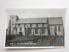 Postcard All Saints Church Thornham Nr Hunstanton North Norfolk By Coates Wisbech Real Photo  My Ref  B11469 - England