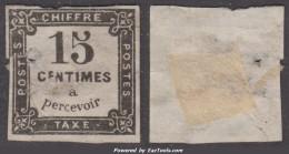 *RARE* 15c Litho Neuf (*) à -10€  (Y&T N° 4, Cote 225€) - Postage Due