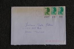 Timbres Sur Lettre : Y Et T : N° 2375 Et 2181 X2 - Marcophilie (Lettres)