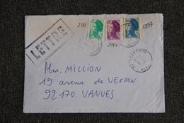 Timbres Sur Lettre : Y Et T : N° 2181, 2184 Et 2377 - 1961-....