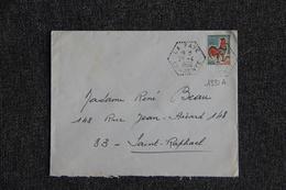 Timbres Sur Lettre : Y Et T : N° 1331 A - 1961-....