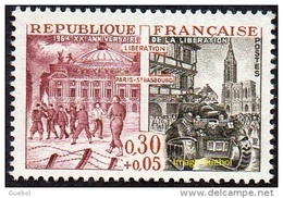 France Histoire N° 1410 ** XXème Anniversaire De La Libération De Paris Et Strasbourg - 2. Weltkrieg