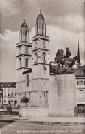 Switzerland Zurich Grossmuenster mit Waldmann Denkmal Photo