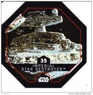 STAR WARS 2015 Vignette Jeton Image Carte LECLERC Disney Numéro 35 Imperial Star Destroyer - Episode I