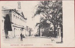 Ertvelde 1908 Het Gemeentehuis Evergem Oost-Vlaanderen (in Zeer Goede Staat) Edit. R. Meuleman - Evergem