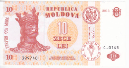 Moldova , 2013 , 10 Lei ,  UNC - Moldova