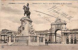 Portugal & Circulated Postal, Estatua De D. José E Arco Triumphal Da Rua Augusta, Coimbra, 1906 (146) - Monumenten