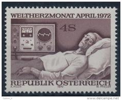 **Österreich Austria 1972 ANK 1416 Mi 1386 (1) Cardiac Patient Medicine Equipment MNH - 1945-.... 2. Republik