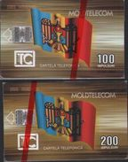Chip Phonecard,national Flag,two Mint Cards In Blister,issued In 09/95 - Moldova