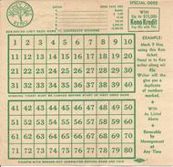 Money Tree Casino - Reno, NV - Blank Paper Keno Sheet - Casino Cards