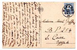 N° 213 (Montenez) Sur CV Expédiée De MANAGE Vers L'EGYPTE (1926) - 1921-1925 Small Montenez