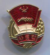 NORTH KOREA - Communism Propaganda, Vintage Pin, Badge, Abzeichen - Associations