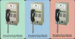 Urmet Test Phonecard, Telephone,set Of 3,mint - Cuba