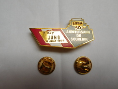 Superbe Pin's En EGF , Armée Militaire , 50e Anniversaire Du Débarquement ; Juno Beach , Normandie , Juin 44 - Army