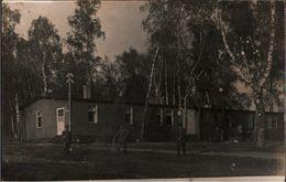! 2 Seltene Fotokarten, Photos Soldatenheim 1918 Polen Belorussische Grenze, Russia, Border, Echtfotos - Weißrussland
