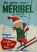 Ski Méribel Les Allues Alpes Francaises 1960 - Postcard - Poster Reproduction - Publicité