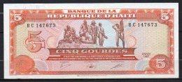 518-Haiti Billet De 5 Gourdes 1987 BC147 Neuf - Haïti