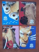 ICE AGE Lot De 4 Cartes Postales - Advertising