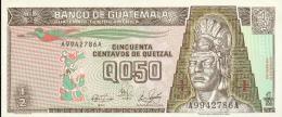 537-Guatemala Billet De 1/2 Quetzal 1989 A994A Neuf - Guatemala