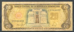 441-Dominicaine Billet De 20 Pesos Oro 1988 C778F - Dominicaine