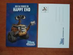 WALL E DIsney Channel Carte Postale - Advertising