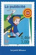 PUBLICITE--LA POSTE--2001--la Publicité--le Petit Mineur--voir 2 Scans - Poste & Facteurs