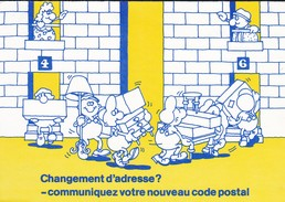 PUBLICITE--LA POSTE--changement D'adresse ?--communiquez Votre Nouveau Code Postal--voir 2 Scans - Poste & Facteurs