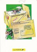 PUBLICITE--LA POSTE--déménagement Enveloppe De Réexpédition--voir 2 Scans - Poste & Facteurs
