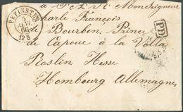 Enveloppe De PEPINSTER 5 Janvier 1866 Vers Hombourg Au Prince De Bourbon Et Capoue - 12002 - Other