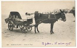 Attelage Couchette Ane Sur La Plage De Berck Avec Enfant Malade Cure D' Air - Donkeys