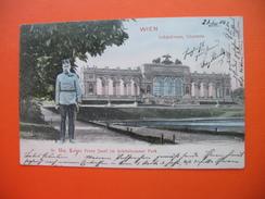 WIEN.Schonbrunn,Gloriette.Sr.Maj.Kaiser Franz Josef Im Schonbrunner Park - Schloss Schönbrunn