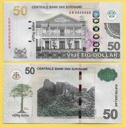 Suriname 50 Dollars P-165 2012 UNC - Surinam