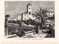La Villa Malta A Roma Do Uno Schizzo Del Sig. Valentini -- Original - Druck Aus 1865 - Alte Papiere