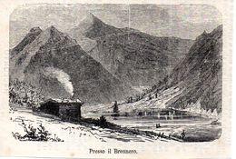Am Brenner  -- Original - Druck Aus 1865 Tirol - Alte Papiere