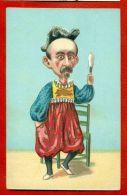 FRANCE POLITICAL MAN VINTAGE POSTCARD 3874 - Satirical