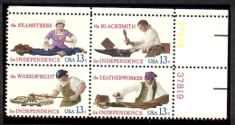 1977 - U.S. # 1717-1721 - Block Of 4 - Mint VF/NH - Unused Stamps